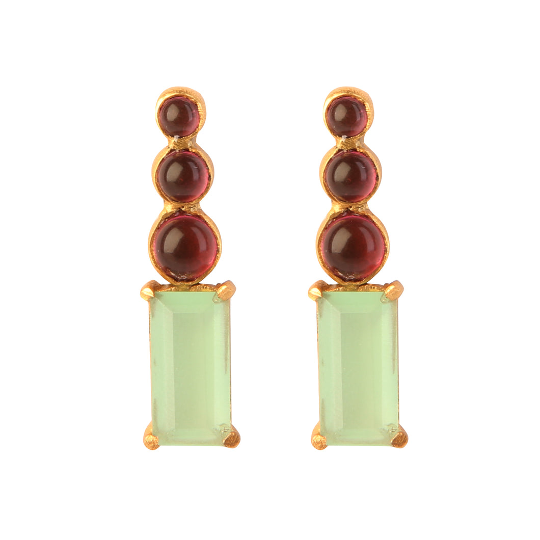 MARMARIS PREHNITE EARRINGS