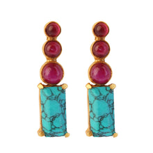 Load image into Gallery viewer, MARMARIS TURQUOISE EARRINGS