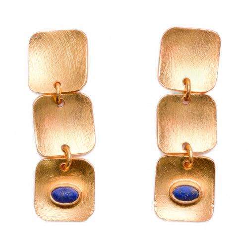 ISTANBUL III LAPIS LAZULI EARRINGS