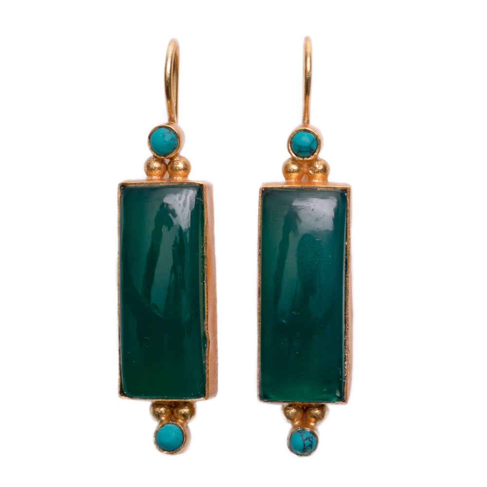 SALONICA GREEN EARRINGS