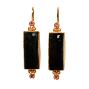 SALONICA BLACK ONYX EARRINGS