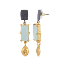 Load image into Gallery viewer, BALI AQUAMARINE EARRINGS