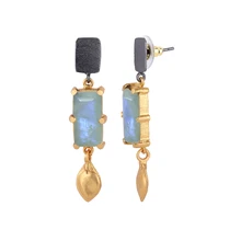 Load image into Gallery viewer, BALI MOONSTONE EARRINGS