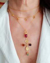 Load image into Gallery viewer, BYZANTIUM RANI: NECKLACE + EARRINGS