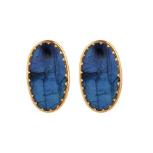 Load image into Gallery viewer, ELDORADO LABRADORITE EARRINGS