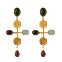 Load image into Gallery viewer, BYZANTIUM PERIDOT EARRINGS