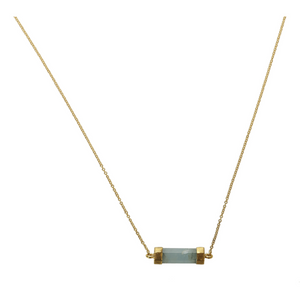 CANNES AQUAMARINE NECKLACE