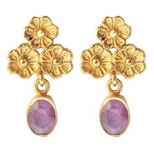 Load image into Gallery viewer, MARINGOLD RUBY EARRINGS