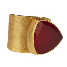 Load image into Gallery viewer, HAVA RED ONYX RING
