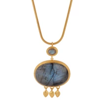 Load image into Gallery viewer, JAISALMER LABRADORITE NECKLACE