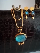 JAISALMER LABRADORITE NECKLACE