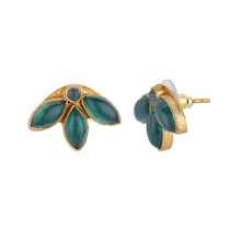 Load image into Gallery viewer, LEAVES GREEN EARRINGS