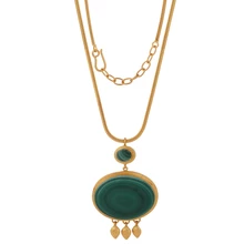 Load image into Gallery viewer, JAISALMER MALACHITE NECKLACE