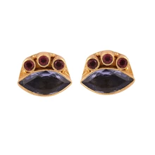 Load image into Gallery viewer, MALI IOLITE EARRINGS
