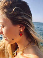 Load image into Gallery viewer, PHILIAS RED EARRINGS