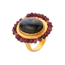 Load image into Gallery viewer, RENAISSANCE LABRADORITE RING