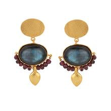 Load image into Gallery viewer, RENAISSANCE LABRADORITE EARRINGS