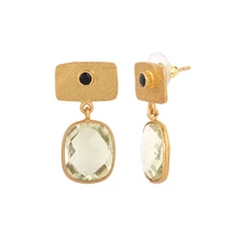 SILK TOPAZ EARRINGS