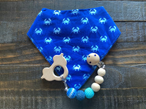 Teether Clip with Bib