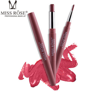 MISS ROSE 1PC Double-end Lasting Lipliner Waterproof Lip Liner Stick Pencil 8 Colors Party Daily Makeup Lipliner Pen