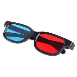 Black Frame Red Blue Anaglyph 3D Glasses for Movie Game DVD