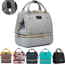Load image into Gallery viewer, Fashion Mummy Maternity Diaper Bag Brand Large Capacity Baby Bag For Mom Thermal Insulation Travel Backpack For Baby Care