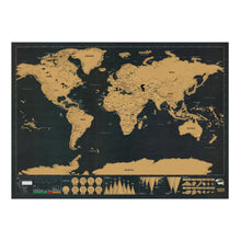 Load image into Gallery viewer, Black Luxury Edition Scratch World Map 82.5 X 59.4CM