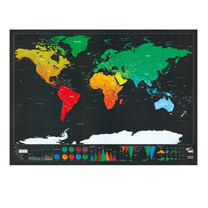 Black Luxury Edition Scratch World Map 82.5 X 59.4CM
