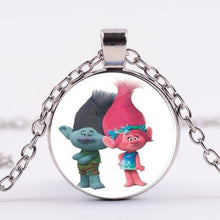 Load image into Gallery viewer, Movie Trolls Necklace Figures Poppy Branch Metal Pendants for women