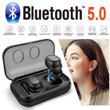 Load image into Gallery viewer, [Truly Wireless Stereo] Bluetooth 5.0 Headphone IPX5 Waterproof Bluetooth Earphone,Heavy Bass Sport Truly Wireless Earbuds Earph