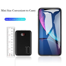 Load image into Gallery viewer, Power Bank for xiaomi mi iPhone, 10000mAh LED Display Dual USB Powerbank External Battery Fast charging