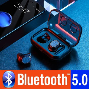 [Truly Wireless Stereo] Bluetooth 5.0 Headphone IPX5 Waterproof Bluetooth Earphone,Heavy Bass Sport Truly Wireless Earbuds Earph