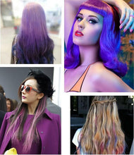 Load image into Gallery viewer, Hair Dying Chalk Temporary Hair Powder Soft Salon Hair Color DIY Salon 4 Colors optional one time use