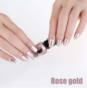 14 Color 6ML Women Fashion Sexy New Metallics Nail Polish Mirror Nail Polish Beauty Makeup Accessories