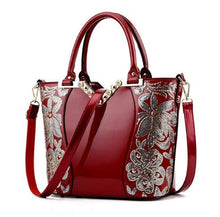 Load image into Gallery viewer, Sequin Embroidery Women Bag Patent Leather Handbag Diamond Shoulder Messenger Bags