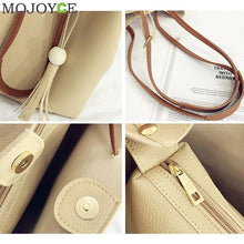Load image into Gallery viewer, 4pcs/Set Women Bag Tassel Pure PU Clutch Handbag Set  Shoulder Bag