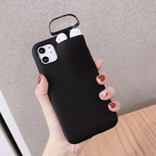 Load image into Gallery viewer, 2 In 1 Phone Case iPhone Soft Silicone Cover Headset Caps