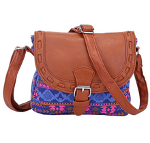 Load image into Gallery viewer, Tribal style women handbag Leather