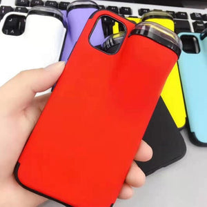 2 In 1 Phone Case iPhone Soft Silicone Cover Headset Caps