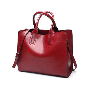 Leather Handbags Big Women Bag Female Bags Trunk Tote Shoulder Bag