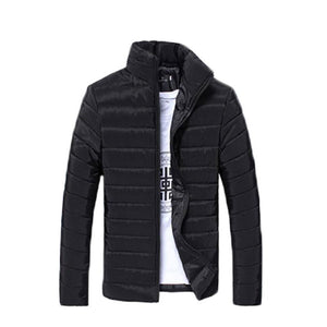 Fall-Men Solid Long Sleeve Cotton Padded Good Selling Jackets Coats
