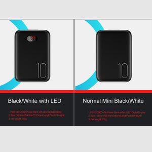 Power Bank for xiaomi mi iPhone, 10000mAh LED Display Dual USB Powerbank External Battery Fast charging