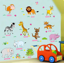 Load image into Gallery viewer, Animal world map wall stickers