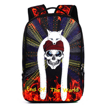 Load image into Gallery viewer, 3D Skull Laptop Backpack for Men Punk Rock Printing School Backpack Casual School Bags