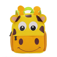 Load image into Gallery viewer, 3D Animal Children Backpacks Brand Design Girl Boys Backpack Toddler Kids Neoprene School Bags Kindergarten Cartoon Bag