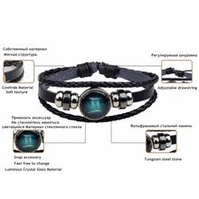 Load image into Gallery viewer, 12 Constellation Luminous Bracelet  for Men Boys Women Girl Jewelry Accessories Gifts