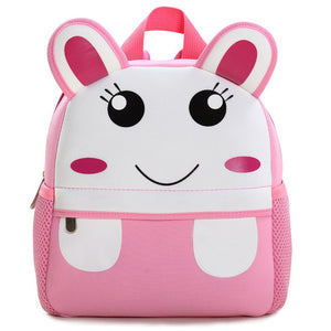 3D Animal Children Backpacks Brand Design Girl Boys Backpack Toddler Kids Neoprene School Bags Kindergarten Cartoon Bag