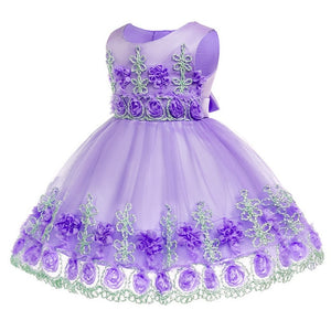 0-2 years baby clothes birthday Princess party dress Kids