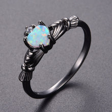 Load image into Gallery viewer, Charming Heart Shape Fire Opal Rings