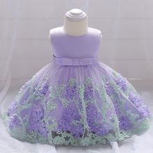 Load image into Gallery viewer, Flower lace baby princess dress